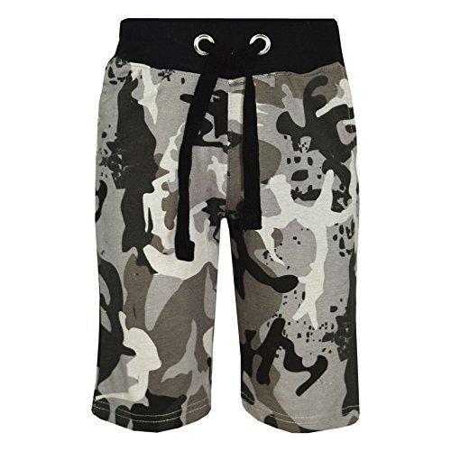 A2Z 4 Kids® Kids Shorts Girls Boys Camouflage Print Cotton Chino Shorts - A2Z Camo Shorts Charcoal - 7-8 Years