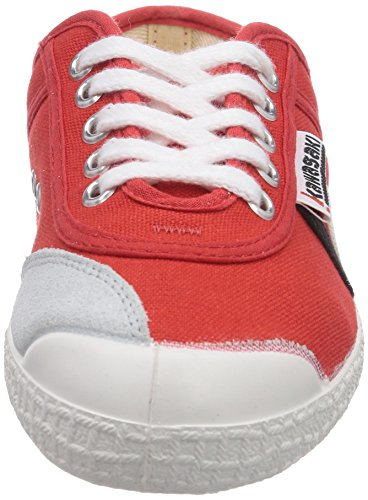 Kawasaki Rainbow Retro, Low-Top Sneaker mixte adulte Rouge (red / 33)