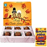 BOGATCHI ThanksGiving Gifts, Thanks Giving Chocolates, Premium Chocolate Candy Box, 6 pieces, FREE Thanks Giving Greeting Card