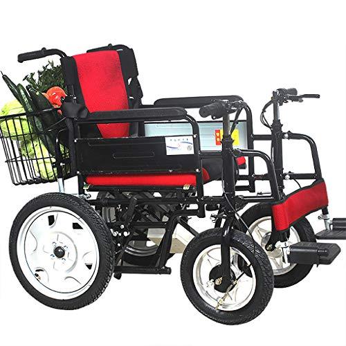 Fire cloud Carrozzina per Servizio Pesante, Sedia per Mobilità motorizzata Ultra-Portatile, Smart con Carrello Fuoristrada a Quattro Ruot
