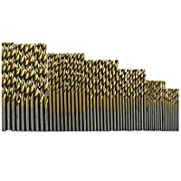 YaptheS 1 Juego (60pcs) Conjunto de Empleo Broca HSS de Acero, Madera aserrada Fresa Espiral de plástico de aleación de Aluminio Herramientas de jardinería (1.0-3.5mm)