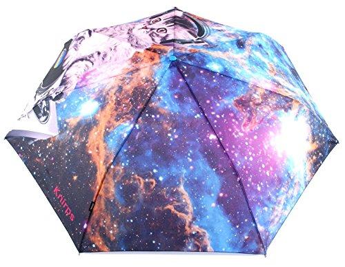 Knirps Duomatic Big Taschenschirm 37 cm, Dj Space Cat (Schwarz / Blau),
