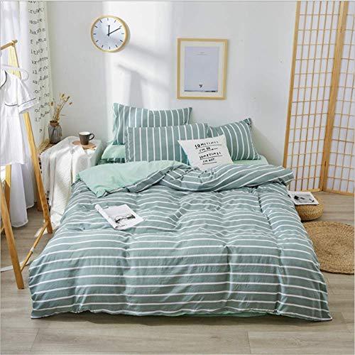 NQING Polyester Bettwäsche Sets Home Königin Größe Bett Set Mit Bett Blatt Tröster Set Kissen Fall F 220x240cm -