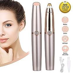 Etmury Augenbrauen Rasier,Trimmer für Frauen Mit wiederaufladbarer USB, Austauschbarem Augenbrauenklinge,Eingebautes Helles Schmerzloses Eyebrows Hair Remover Trimmer