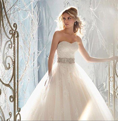 LUCKY-U Hochzeitskleid, Elegante Nicht-Ärmel Prinzessin Wedding Dress A Line Abendkleid...