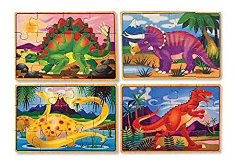 4 wooden puzzles - dinosaurs