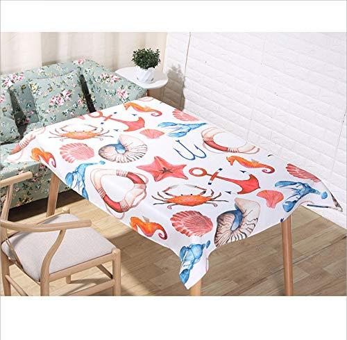 Djkaa Wasserdichte Baumwollleinen-Tischdecke Im Nordischen Minimalistischen Stil Aus Polyester - Tischdeckenstoff