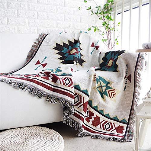 LINWX Geometry European Throw Blanket Sofá Funda Deslizante Decorativa en sofá/Camas/Plano Mantas...