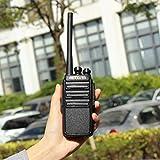 Retevis RT24 Plus Funkgerät Walkie Talkie 16 Kanäle UHF PMR Funkgeräte Wiederaufladbar USB Ladeschale mit Headset (EIN Paar, Schwarz) Test