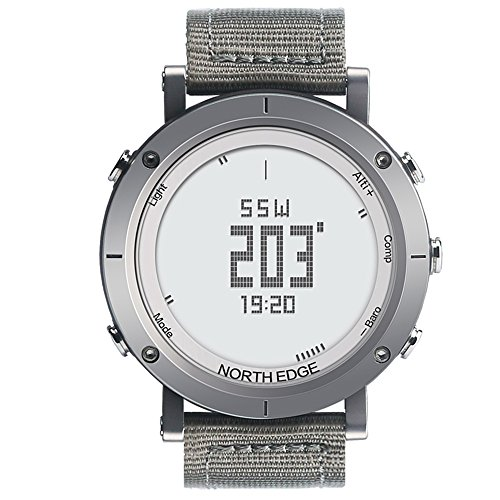Lixada Männer Digital Sport Pulsmesser Uhr Schrittzähler Kalorien Fitness Laufuhr Wetter Höhenmesser Barometer Thermometer Kompass