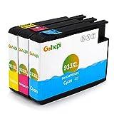 Gohepi Ersatz für HP 933 933XL Cyan Magenta Gelb Druckerpatronen Hohe Kapazität Kompatibel für HP Officejet 6700 6600 7612 7110 7610 6100 (1 Blau, 1 Rot, 1 Gelb)
