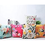 AEROHAVEN Poly Matty Designer Decorative Throw Pillow/Cushion Covers - CC122 - (18 inch x 18 inch, Multicolour), Set of 5