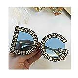 day spring online shop Mode Sonnenbrillen damen herren Crystal Details Dolce & Gabban a DG6121B DG Sunglasses - blue