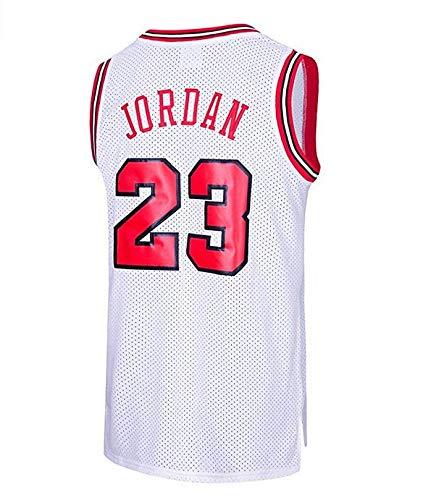 hot sale online 9608f 48416 MTBD Maillot de Basket, NBA  23 Retro Bulls Michael Jordan, Broderies  Respirantes et