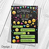 Personalised Emoji Party Invitations | Joint or Single Birthday Invites