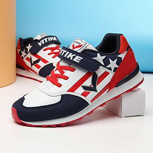 ASHION Kids Shoes Solid Scarpe Sneakers traspirante Moda per bambini rosso