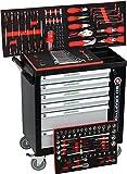 BD Tools Black Sensation Chariot servante atelier 6 tiroirs/4 remplis d'outils