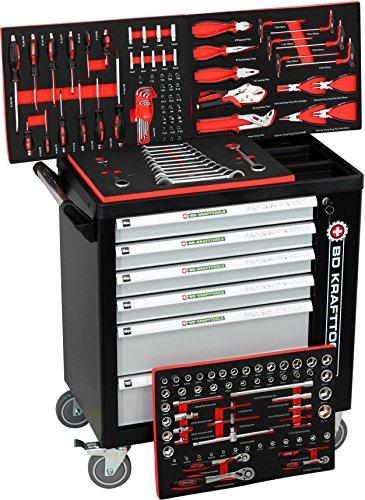 Werkzeugwagen Black Sensation Edition - Werkstattwagen - 6 Schubladen / 4 gefüllt mit Werkzeug