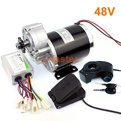 L-faster 48V 600W Electric Tricycle Motor Electric Trike Rickshaw Motor Electric Tricar DC Motor Electric Three-Wheeled Vehicle Motor Kit (48V Pedal Kit) -