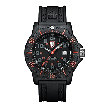 Luminox Black OPS PC Carbon Men's Quartz watch with Black dial featuring LLT Luminox light Technology 45 millimeters Carbon Compound case and Black PU Strap XL.8815