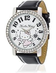 Hello Kitty Mädchen-Armbanduhr Makurazaki Black Analog Quarz Kunstleder HK3174-117