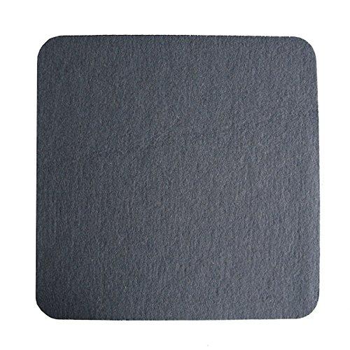 Universal Filzkissen, quadratisch 34,4 cm, Schurwolle, Antirutsch-Beschichtung (anthrazit)