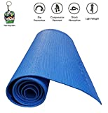 #7: Jogger Quickshel Non Slip Yoga Mat 6mm Thick and Non-Slippery Washable for Men & Women with Carrying Bag (Blue)