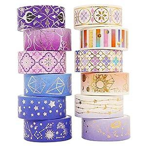 Gwotfy 12 rollos Washi Tape,