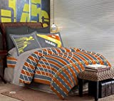 Bombay Dyeing Rust Spree Cotton Double Bedsheet with 2 Pillow Covers