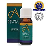 Absolute Aromas Lemon 10ml (citrus limonum) Essential Oil - 100% Pure, Natural, Undiluted, Vegan and Cruelty-Free - For use in Diffusers and Aromatherapy Blends