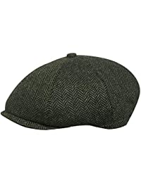 7ec2db6b TOSKATOK® Unisex Mens, Ladies 8 Panel Herringbone Tweed Wool Blend Baker Boy  Newsboy Flat