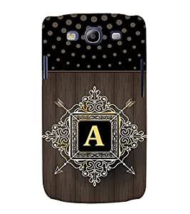 FIOBS indic dot pattern royal design alphabet A Designer Back Case Cover for Samsung Galaxy S3 Neo I9300I :: Samsung I9300I Galaxy S3 Neo :: Samsung Galaxy S Iii Neo+ I9300I :: Samsung Galaxy S3 Neo Plus