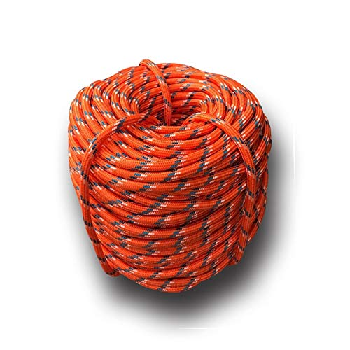 ANZQHUWAI Kletterseil 10m / 20m / 30m / 50m im Freien Notfall-Seil Verschleißschutz 9 mm Durchmesser High Strength Tool Wandern,20m