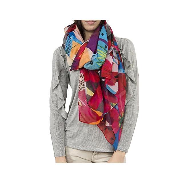 Desigual foulards 18saww29 crhystal gogo rouge ... 43d7b49ae56f
