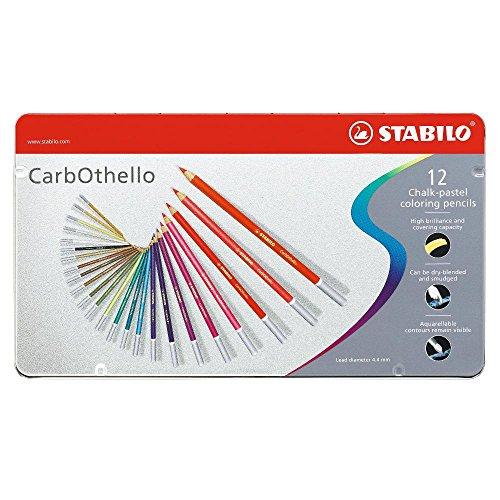 stabilo-carbothello-boite-metal-de-12-crayons-de-couleur-fusains-pastels-coloris-assortis