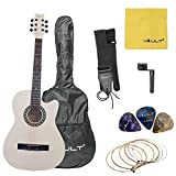 #9: Vault 38C 38 inch Cutaway Acoustic Guitar with Picks, Bag, Strings, Strap and String winder