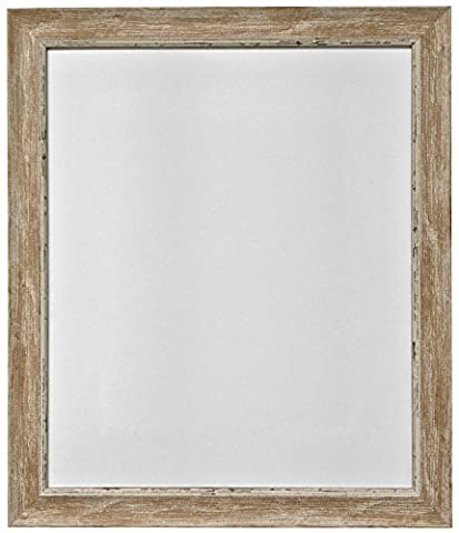 FRAMES BY POST 24 x 18-Inch Plastic Glass Nordic Distressed Picture Photo Frame, Wood Brown