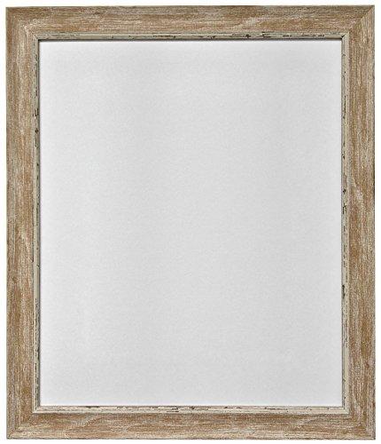 fotorahmen 30x45 Frames by Post 45 x 30 cm Nordic Bild-/Fotorahmen im Antique-Look mit Glasscheibe, holzbraun