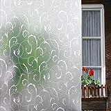LEMON CLOUD Non Colla Finestra Film Statico Finestra Smerigliato Paralume Arte Floreale per Ufficio Casa Decorazione e Privacy Protezione 90cm X 200cm