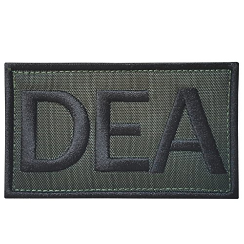 Olive Drab Green US DEA Federal Agency Drug Enforcement Police Embroidered Touch Fastener Aufnäher Patch -