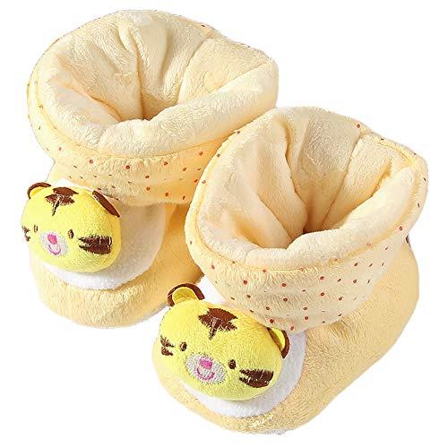 joizo Baby Booties Neugeborenes, Niedlich Cotton warme Schuhe Winter-Baby Premarche Kleinkind-Schnee-Aufladungen Cradle-Schuhe für Mädchen Jungen Gelb 1 Paar - Gelb Baby Booties