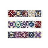 Decorativos Adhesivos para Azulejos Pegatina de Pared - Color combinado Cenefa Autoadhesivo- para Baño y Cocina - 20cmX20cmX15 pcs
