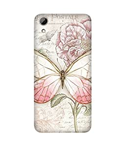 Vintage Butterfly Back Cover Case for HTC Desire 626