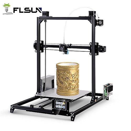 FLSUN i3-C5 Plus 3D-Drucker, Touchscreen Dual-Düse DIY Drucker Kit Auto-Levelling RepRap Desktop 3D-Druck Größe 300X300X420mm Beheiztes Bett