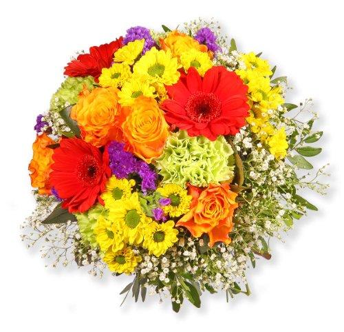 """Blumenstrauß Blumenversand """"Bunte Glückwünsche"""" +Gratis Grußkarte+Wunschtermin+Frischhaltemittel+Geschenkverpackung"""