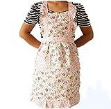 Schürze,Dragon868 Damen Blumenspitze Schürze Kleid Home Küche Kochen Baumwolle Schürze Lätzchen Mit 2 Taschen (Rosa, Schürzen Für Frauen)