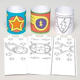Superhelden-Armbnder-fr-Kinder-zum-Ausmalen-Basteln-und-Tragen--Kreatives-Bastelset-fr-Kinder-12-Stck
