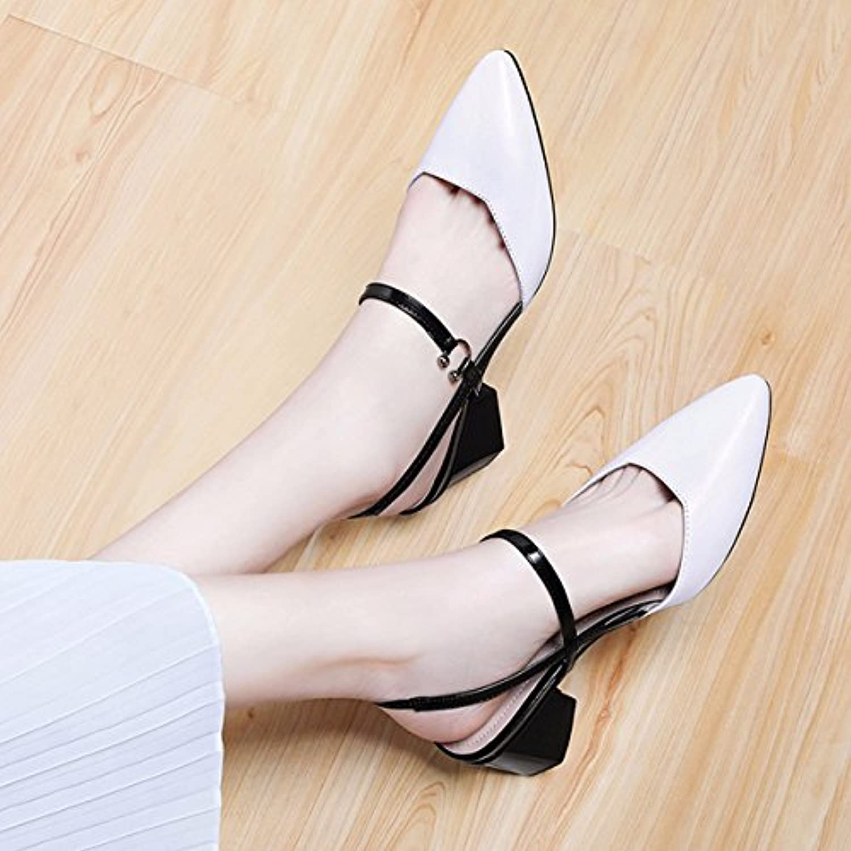 GONGFF Verano Sandalias Nuevas Zapatos Planos Y Puntiagudos Zapatos T Zapatos Cómodos Hechos A Mano,#2,39 39|#2