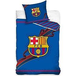 Funda de edredón con diseño del FC Barcelona con cinta, algodón, exclusiva