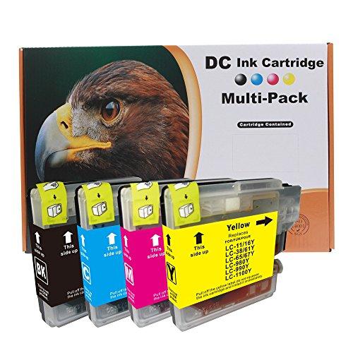 D&C 10set Druckerpatronen kompatibel für Brother LC-980/1100 DCP-185C,DCP-385C,DCP-395CN,DCP-585CW,DCP-6690CW,DCP-J615W, DCP-J715W,MFC-490CW,MFC-5490CN,MFC-5895CW,MFC-6890CDW,MFC-795CW,MFC-990CW - Tintenpatronen Brother Lc61